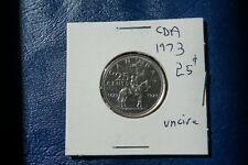 A-207 1973 Canada 25 Cents quarter Queen Elizabeth II RCMP Centennial Mountie