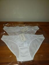 Forever 21 Womens White Bikini Floral Pattern Panties Size Large 2 Pairs.