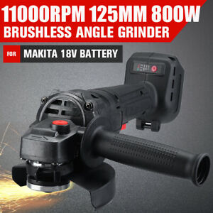 """5"""" Cordless Brushless Angle GRINDER REPLACES DGA456 125mm For Makita 18V Battery"""