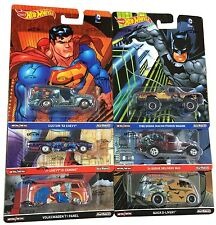 DC COMICS BvS - SET OF 6 - 1/64 Scale 2016 Hot Wheels Pop Culture D Case