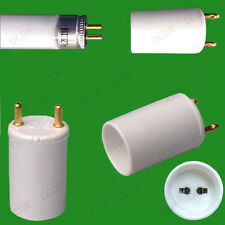 "2x T8 to T5 Lamp Holder Socket Adaptor 38mm Long, 26mm 1"" to 16mm Tube Converter"