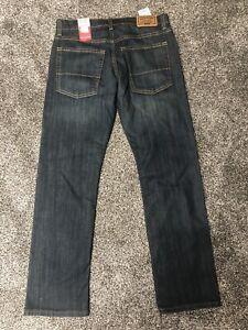 NEW Levi Strauss Signature Gold Blue Jeans Slim Straight Flex Adj Waist Sz 16