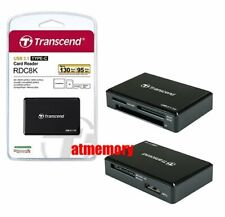 Transcend RDC8 Card Reader USB3.1 for CF/SD/SDHC/SDXC/Micro SD SDHC SDXC US