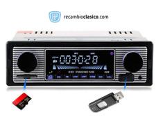autoradio retro con MP3 USB