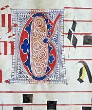Huge deco. Antiphonary Manuscript Lf.Vellum,Fancy G&2 unusual G&D initial,c.1500