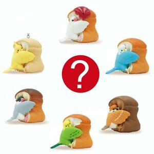 Japanese Blind Box Kawaii Cute Bird Sparrow Bread Loaf Charm Figure 1 Random Toy