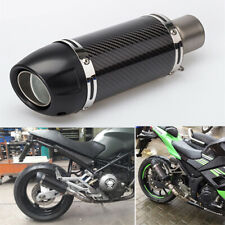 Universal Carbon Fiber Motorcycle Bike Exhaust Muffler Pipe w/ DB Killer B Size