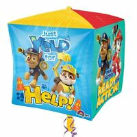 Paw Patrol Cubez Foil Balloon 38cm x38cm Childrens Birthday Party Decorations
