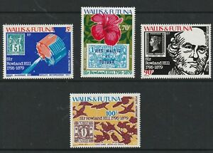 WALLIS & FORTUNA ISL 1979 ROWLAND HILL CENTENARY SET ALL 4 STAMPS MNH