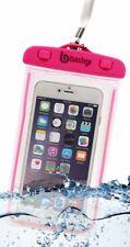 Universal Waterproof Glow In The Dark Phone Case Sealed Protection- Neon Pink