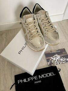Philippe Model Damen Sneaker Gr. 37 Beige Gold NEU & OVP