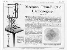 Hobby Costruzioni Meccano Supermodels 26 Twin Elliptic Harmonograph - DVD