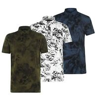 Mens Firetrap Button Short Sleeves Casual Printed Polo Shirt Sizes from S to XXL