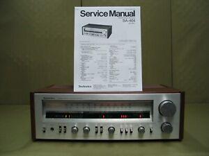 Technics SA-404 Vintage Stereo Receiver ( Circa 1980 ) Tech Serviced & Owned