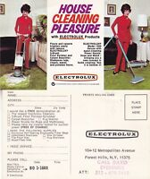 1960's ELECTROLUX HOOVER / POLISHER UNUSED ADVERTISING COLOUR POSTCARD (a)
