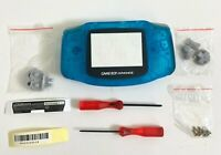 Replacement Housing for Nintendo GBA Game Boy Advance Shell Screen Clear Blue