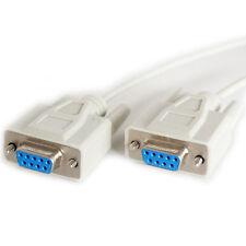 2m 9 manière RS232 femelle vers prise câble null modem plomb-série broche DB9 DE9