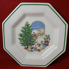 NIKKO china CHRISTMASTIME pattern SANTA AT THE WINDOW Accent Salad Plate -8-1/4""