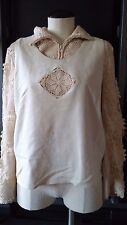 Vintage Lim's Womens Cotton Crocheted Top and Vest set Bohemian Hipster Size S