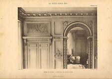 """Gros caractères 1905 """"Le Style Louis xv1"""" HOTEL DE BRISSAC-intérieur (Salon)"""""""