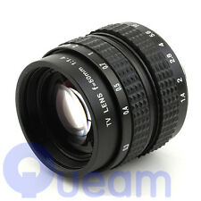 "2/3"" Television TV Lens/CCTV Lens for C Mount Camera 50mm F1.4 in Black"