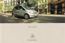 Mercedes-Benz A-Class 2001-03 UK Market Brochure A140 A160 A190 A210 CDi LWB