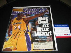 SHAQUILLE ONEAL LOSANGELES LAKERS PSA/DNA SIGNED SPORTS ILLUSTRATED