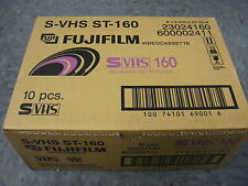 FUJI S-VHS SUPER VHS 160 MINUTE VIDEO TAPE 10 PACK BRAND NEW