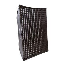 100cm x 70cm RETRACTIL Cuadrado Caja Suave + 2 Difusores & 4cm rejilla Elinchrom