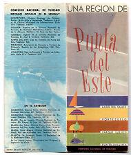 Uruguay Tourist Commission Punta del Este Travel Brochure 1950s