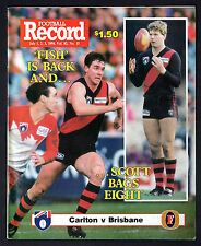 AFL Football Record 1994 Swans vs  Magpies - Wayne Carey Poster