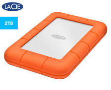 "LaCie Rugged 2.5"" 2TB USB-C External Portable Hard Drive"