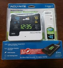 New! ACURITE Backyard Weather Forecaster with WIRELESS SENSOR, Alarm Clock 13043