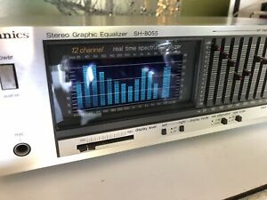 Technics SH-8055 12 Band Stereo Graphic Equalizer Silver