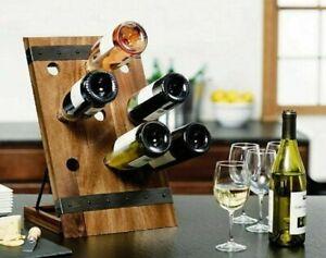 Mikasa 9 Bottle Acacia Solid Wood Wine Rack Hand Crafted Kitchen Barware