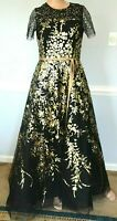 Carolina Herrera Embellished Tulle Maxi Long Ball Gown Evening Dress IT 42 US 6