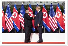 President Donald Trump Shakes Hands With North Korea Kim Jong Un 8x12 Photo