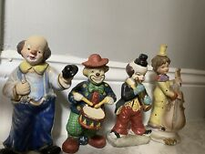 Vintage Painted Ceramic Clown Figurine Statue Collectible Rare Circus Hobo 24