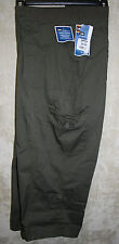 NEW Lee Capri pants 6pocket  zipper front Green 24W Just Below the Waist womens