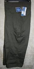 NEW Lee Capri pants 6pocket  zipper front Green 24W Just Below the Waist womens