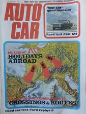 AUTOCAR 72/01/27 FIAT 124 FORD ZEPHYR 6 ESTATE MERCEDES 350 SLC