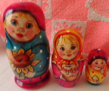 Superb quality Russian Nesting Doll 3 Pcs Large 4.2* #5S