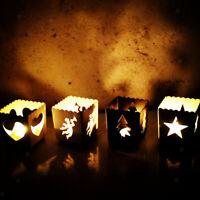 Metal Hollow Candlestick Candle Lantern Tea Lamp Holder Christmas Decoration