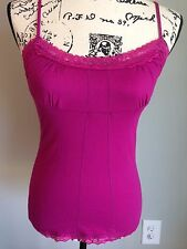 Sexy Rose Lace Guess Jean Cleavage Top Club Cami Camisole top New M Glam Party