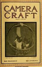 CAMERA CRAFT MAGAZINE 450 old antique issues photos 1900-1942 DVD
