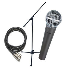 Shure SM58 Microphone, Stand and Cable Package - NEW