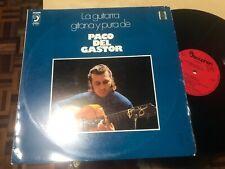 "PACO DEL GASTOR - GUITARRA GITANA Y PURA 12"" LP DISCOPHON 78 FLAMENCO"