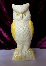Vintage  Belleek Irish Porcelain OWL vases Yellow & Cream