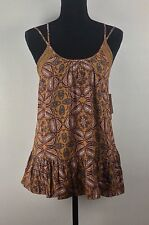 Melrose and Market Size M Medium Printed Lace Trim Strappy Tank Top (H77/85)