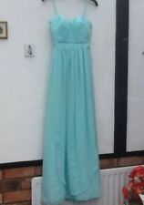 Girl's/Ladies Long Sorella VIta Turquoise Bridesmaid/Evening Dress Size 10